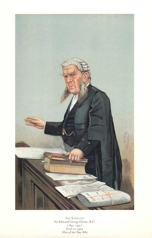 Sir Edward. Vanity Fair, Spy legal caricature print.