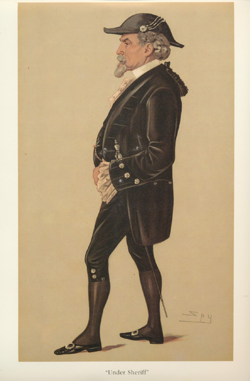 Under Sheriff, legal caricature, Vanity Fair Spy print