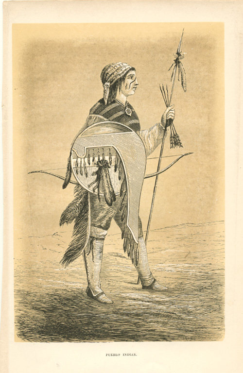 Peublo Indian tribe of North America. Joliet engraving c1860.