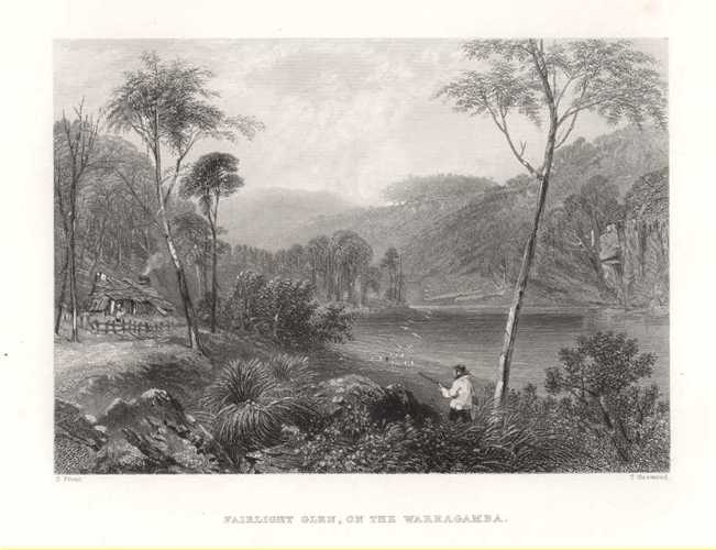 Fairlight Glen on the Warragamba, after Skinner Prout, Australia c1874