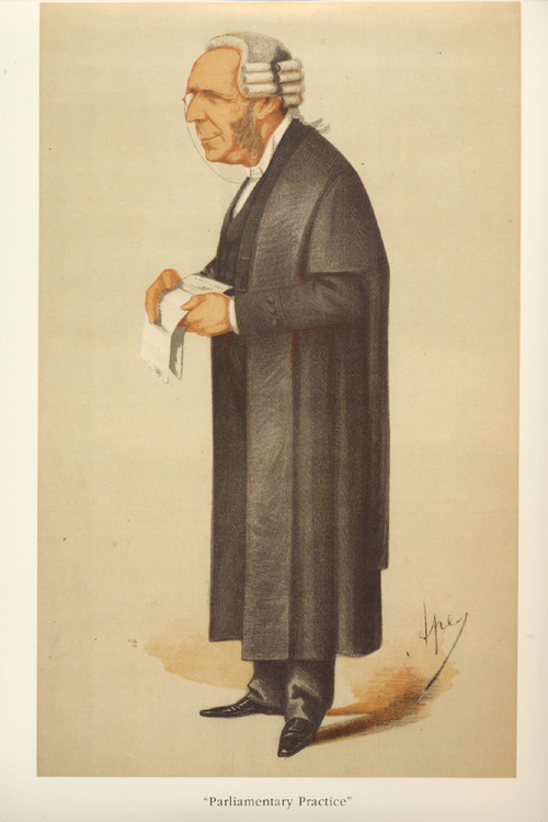 Parliamentary Practice, Thomas Erskine May. Ape legal caricature.