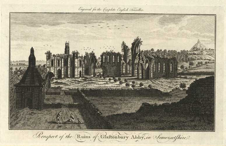 Glastonbury Abby in Somersetshire. Complete English Traveller c1773