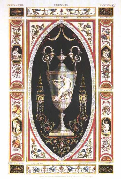 Classical Urn with an Art theme. Pergolesi design