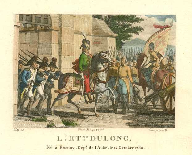 French Military scene with L. Etienne Dulong. Engraved c1810