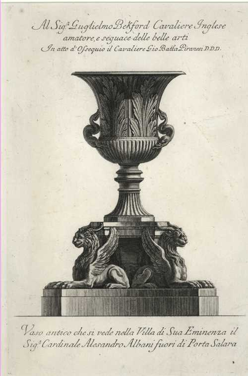 Rare original Piranesi Vase Etching. Superb classical etching c1778.