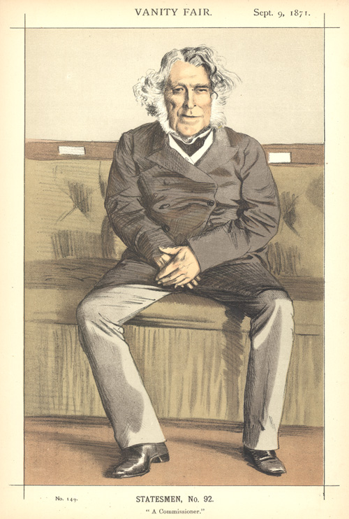 """A Commissioner"" Statesmen, No.92. Vanity Fair caricature c1871."