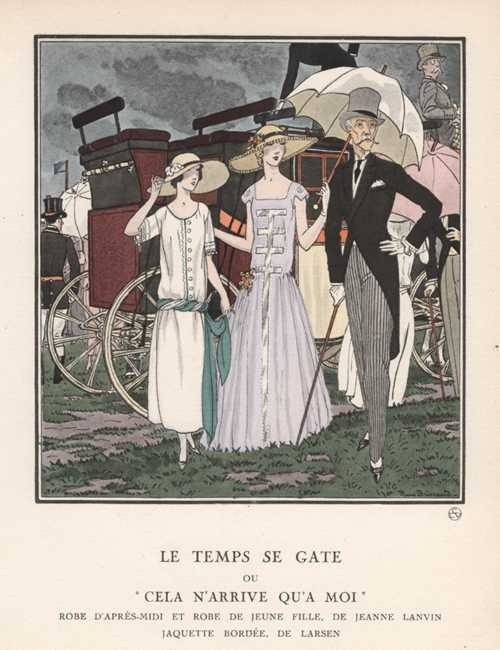 "It's Started Raining, or This always happens to me. ""Le Temps se Gate."" c1922"