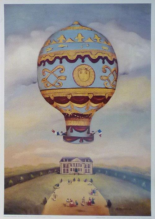 Ballooning: The First Aerial Voyagers. Alexander Churchill print.