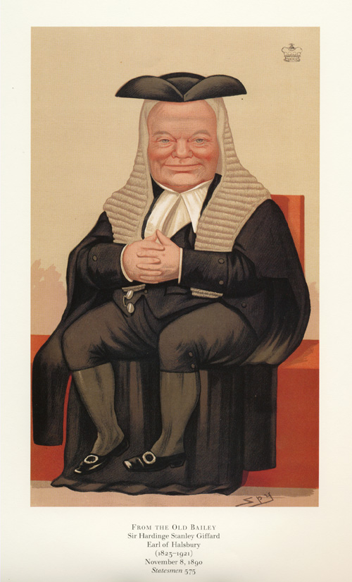 From the Old Bailey, Vanity Fair Spy caricature