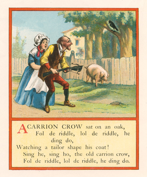 Half-price Nursery-Rhyme: Carrion Crow sat on an oak. c1910
